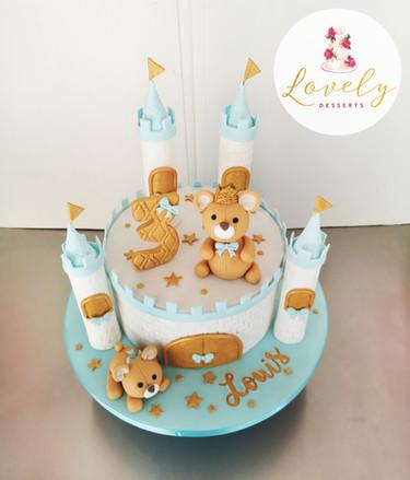 Gâteau petits nounours baby shower, 1er anniversaire petit garçon