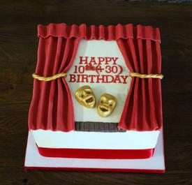 Gâteau d'anniversaire thème Théâtre & Comedia Del'Arte