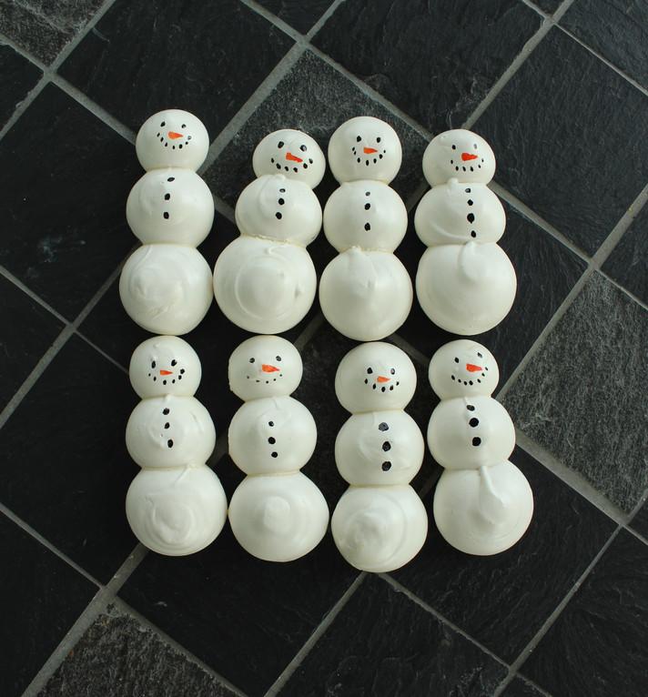 Meringues bonhomme de neige