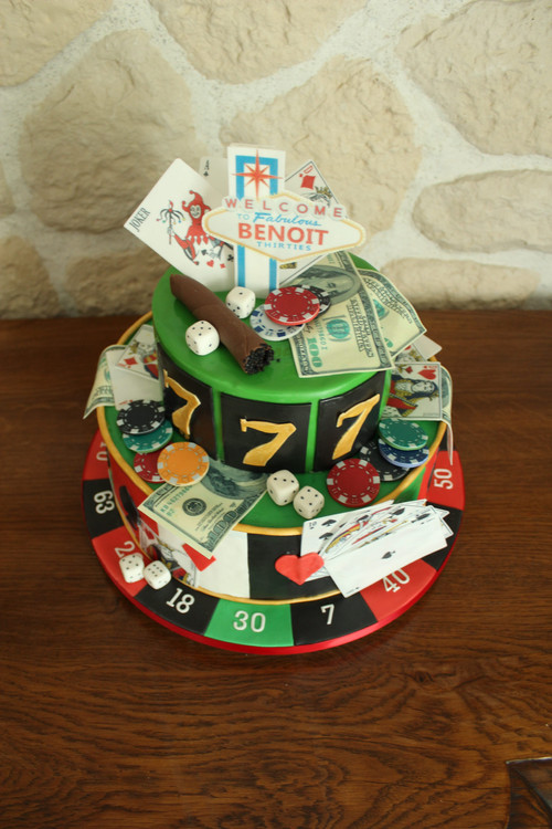 Gâteau personnalisé poker las vegas
