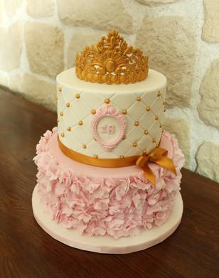 Gâteau personnalisé thème princesse