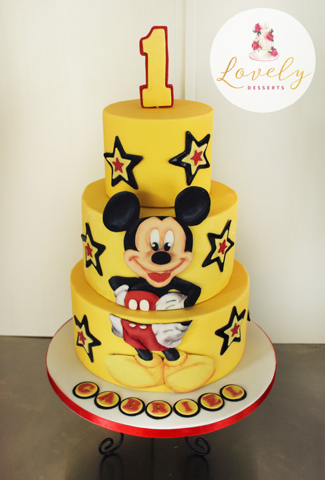 Gâteau d'anniversaire thème Mickey