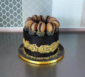 Gâteau d'anniversaire homme moderne fault-line