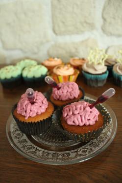 Cupcakes thème Halloween effet cerveau