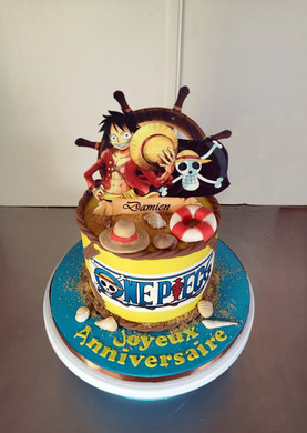 Gâteau d'anniversaire thème One Piece / Manga / Luffy