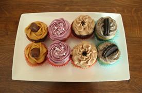 Cupcakes gourmands saveur caramel twix framboise nutella oreo