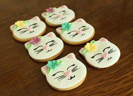 Biscuits décorés tête de chat