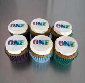 Cupcakes personnalisé avec logo pour évènement d'entreprise