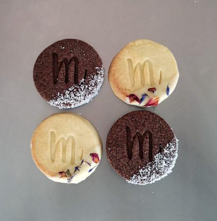 Biscuits personnalisés chocolat et vanille