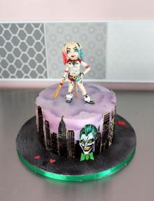 Gâteau d'anniversaire thème Harley Quinn & Joker
