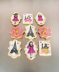 Biscuits décorés 30 ans - Love in Paris