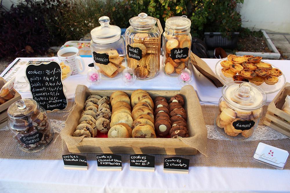 Sélection de biscuits artisanaux pour le marché fermier de Boran sur Oise