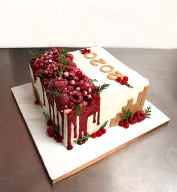 Gâteau sans pâte à sucre thème nouvel an / 2020