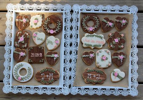 Biscuits décorés mariage rustique