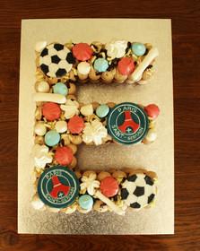 Letter Cake thème PSG - Football