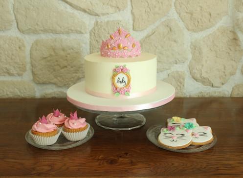 Douceurs pour baby shower thème princesse
