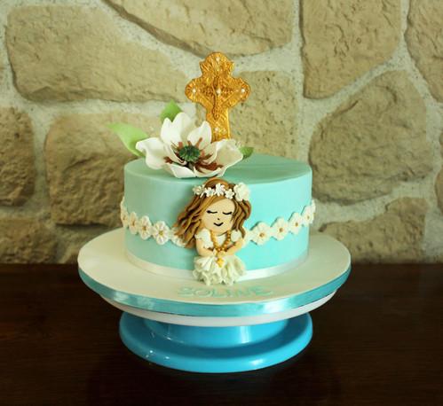 Gâteau pâte à sucre Communion