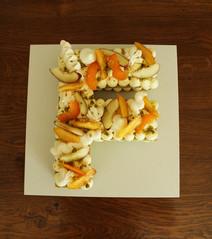 Letter Cake Pistache Pêche Abricot