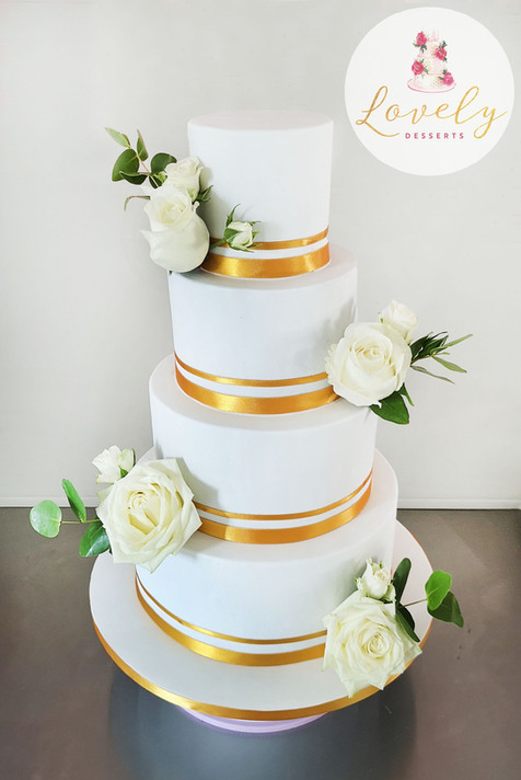 Wedding cake chic & sobre