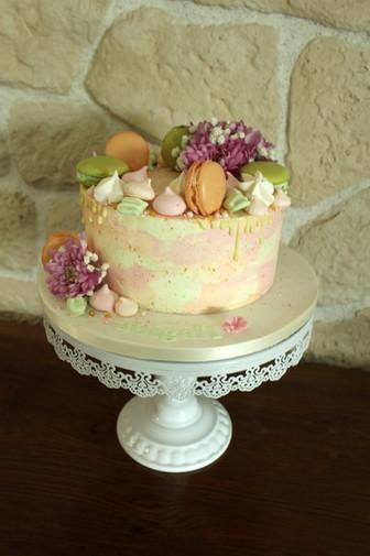 Drip cake aquarelle printanier