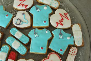 Biscuits décorés infirmière & médecin