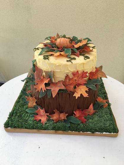 Gâteau personnalisé thème automne