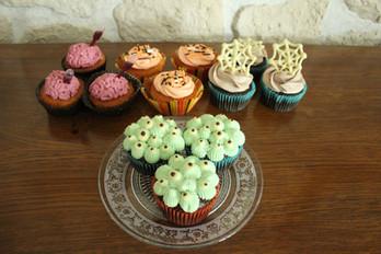 Cupcakes pour Halloween effet monstre