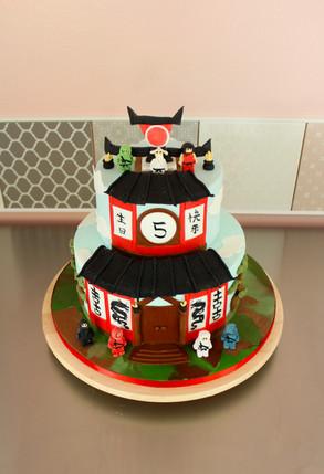 Gâteau d'anniversaire thème NinjaGo