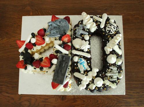 Number cake thème Star Wars