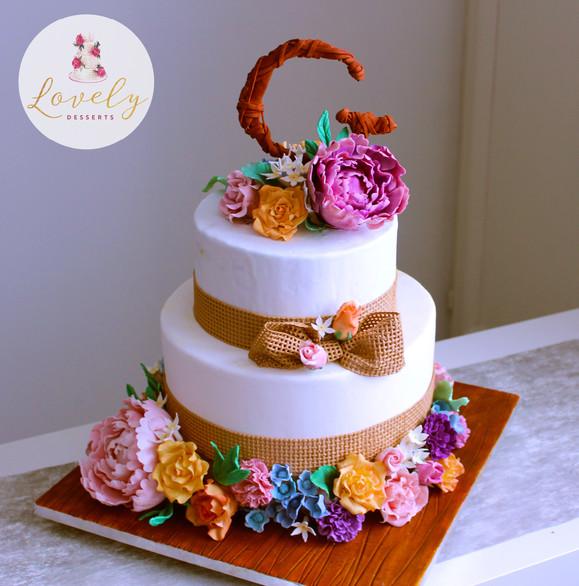 Wedding cake rustique chic champêtre