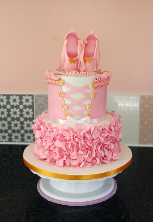 Gâteau décoré thème Ballerine - Danse