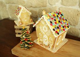 Maisons & sapin de Noël en biscuit