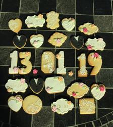 Biscuits décorés mariage élégant et romantique