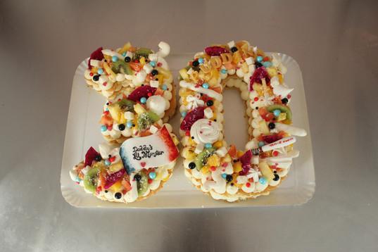 Number Cake fruits exotiques thème Harley Quinn - Joker