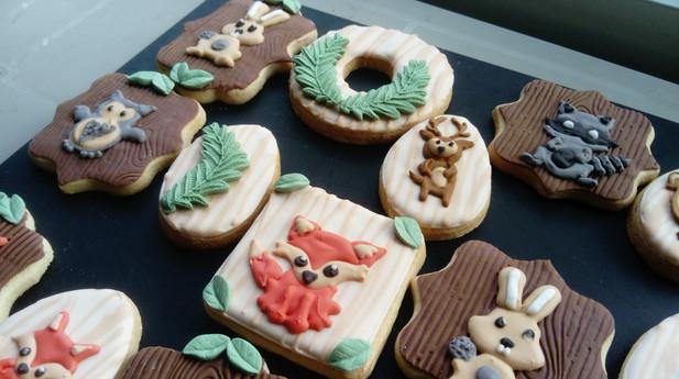 Biscuits décorés automne animaux forêt
