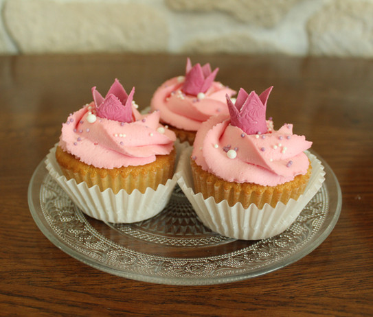 Cupcakes thème princesse pour baby shower