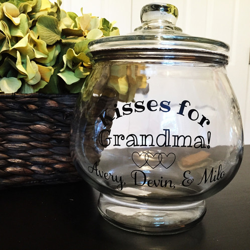 custom personalized cookie jar large