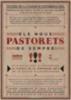 pòster, els nous pastorets de sempre, passió, cartell, pòster, esparreguera, teatre, nadal, 2015, naming, disseny gràfic