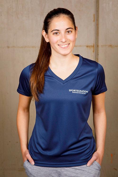 Sportegration V-Neck Sportshirt  |  Frauen