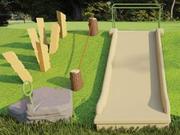 UPC Parks Embankment Slide with ADA Transfer Platform for Base of Slope