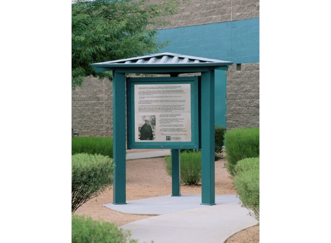Superior Shelter 3 sided Message Kiosk