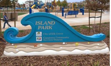 Island Park Sign