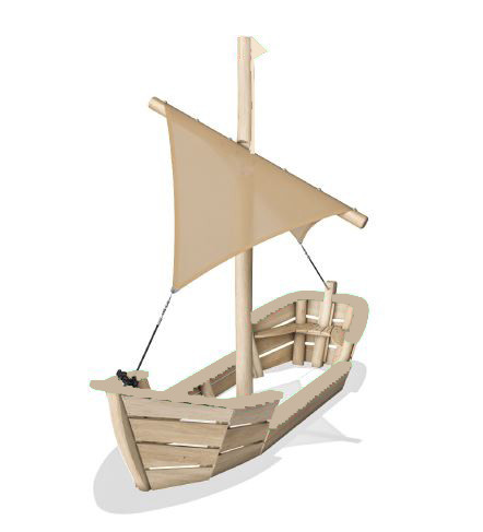 Custom Boat with Sail without color