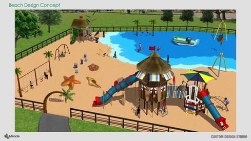 MREC Custom Beach Theme School Age Playground