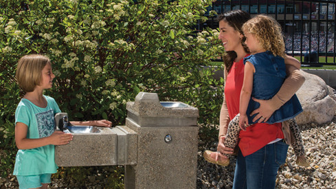 Haws Freeze Resistant Outdoor Drinking Fountain