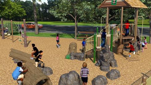 MREC Custom Tree House Theme Preschool Age Playground