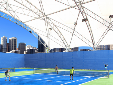 USA Shade Pickleball Shade Structure