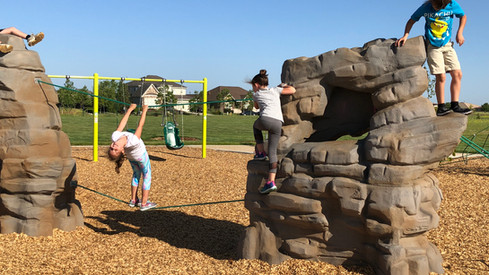 Gonzales Park with Rock and Ropes School Age Playground