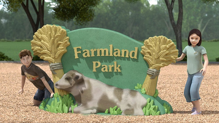 UPC Parks - Farmland-Sign