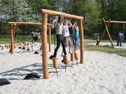 Norna Playgrounds Robinia Gallows w/ Balancing Blocks